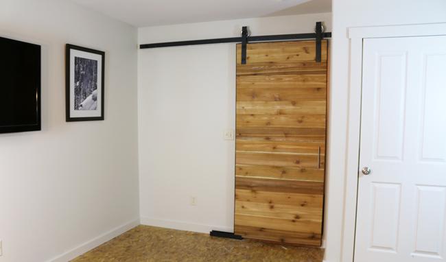 Scandanavian style barn door