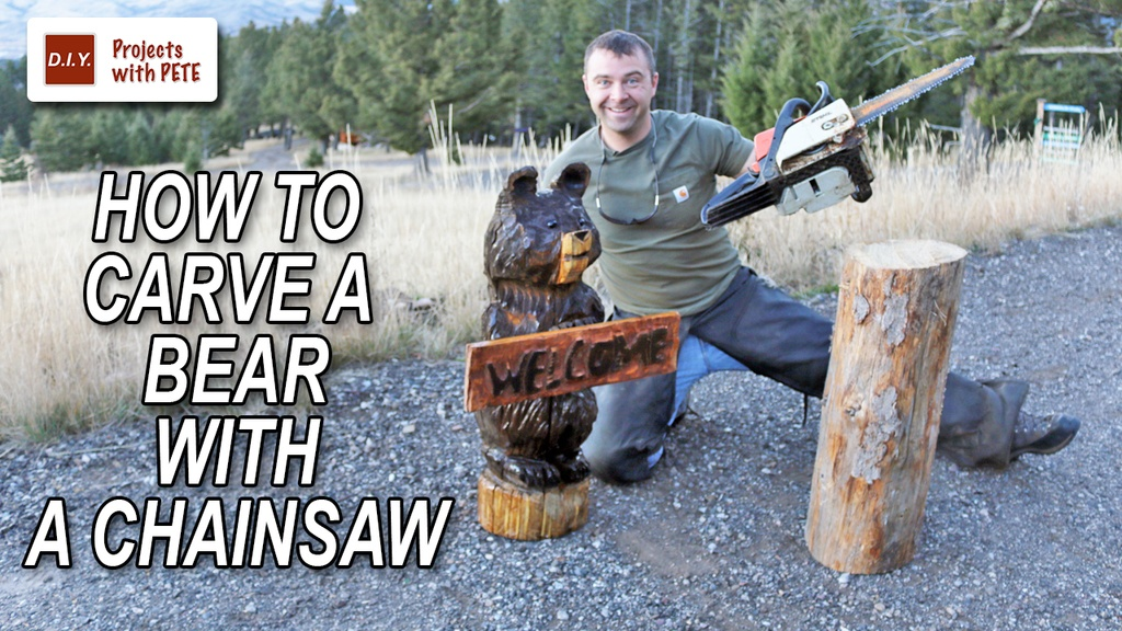 how to chainsaw carve a bear