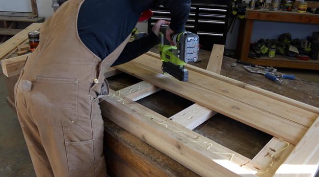 DIY Cedar Bed Frame
