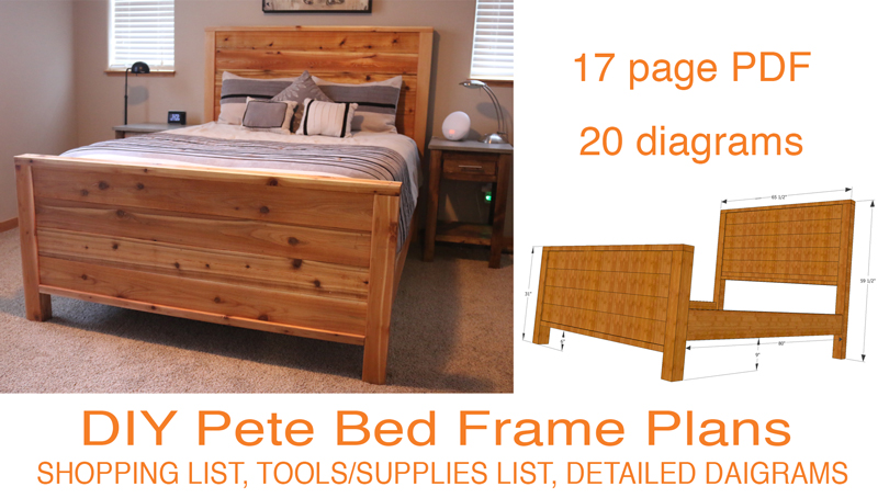 Diy bed frame plans how to make a bed frame with diy pete for Diy poster bed
