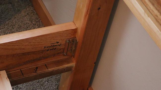 bed frame hardware rail tutorial