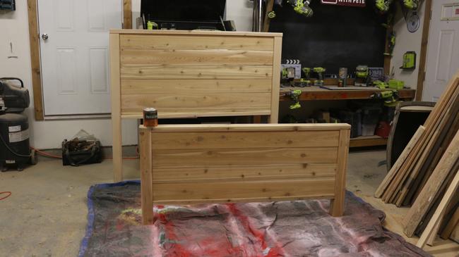 cedar bed frame plans