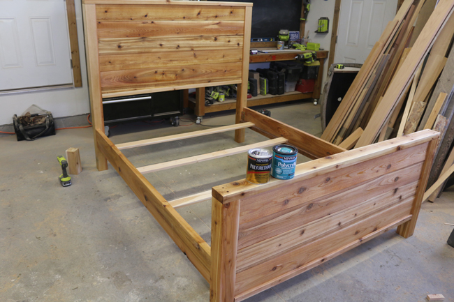 Install DIY Bed Frame