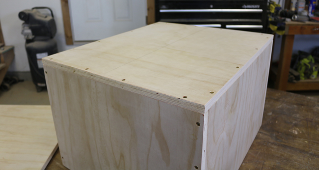 home made plyometric box