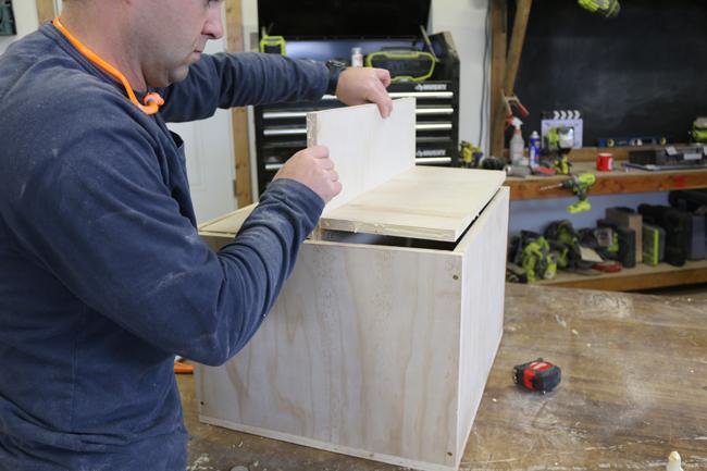 reenforcing a plyometric box
