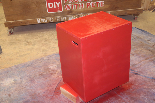 how to paint a plyometric box