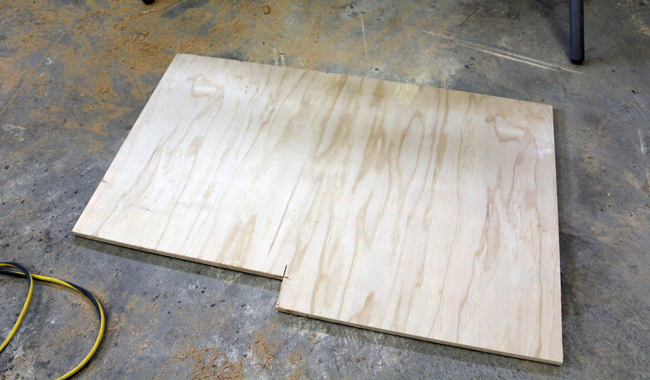 leftover plywood