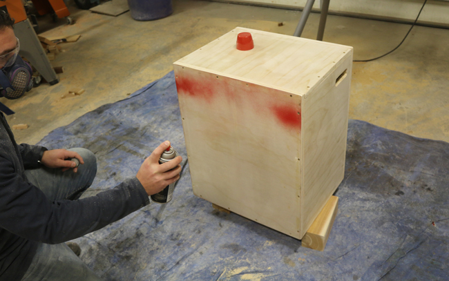 Painting a plyometric box