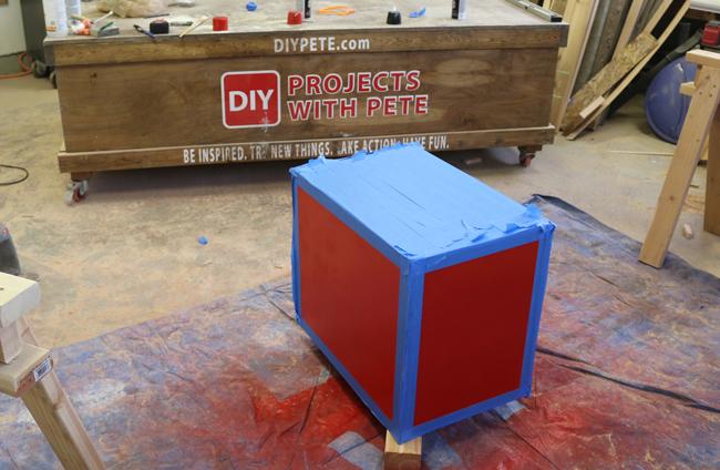 Painting a plyometric box
