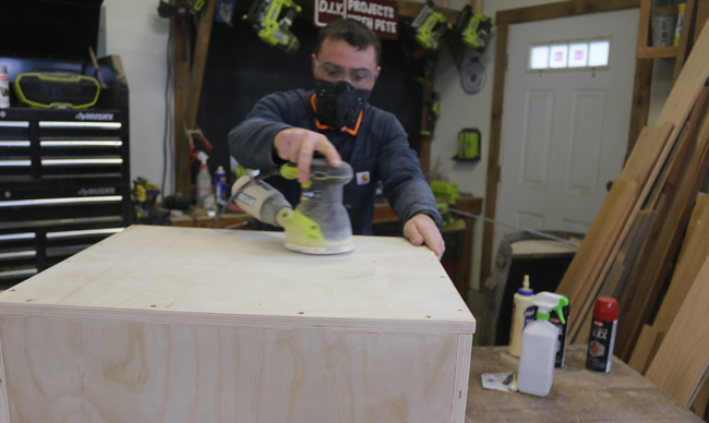 Sanding plyometric box