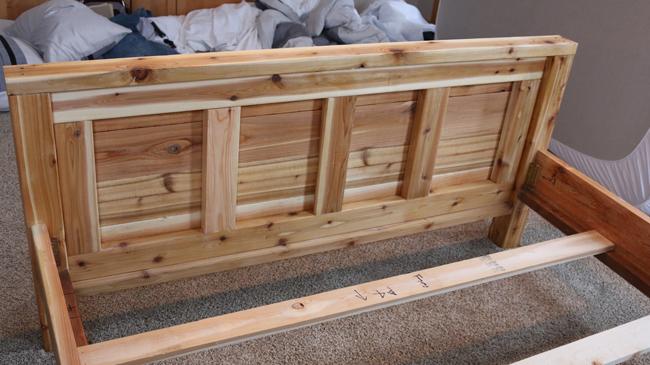 wood footboard tutorial
