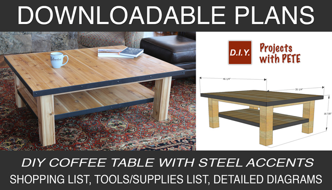 DIY Pete Coffee Table Plans