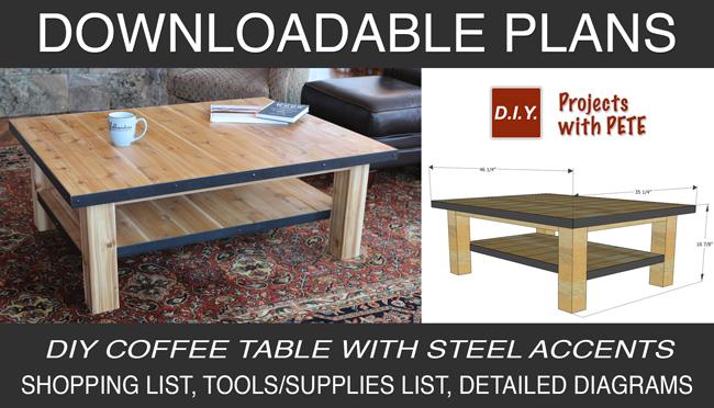 DIY Pete Coffee Table Plans
