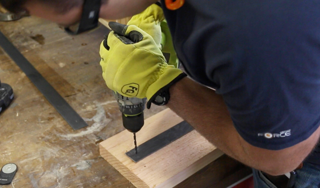 how to drill holes in steel