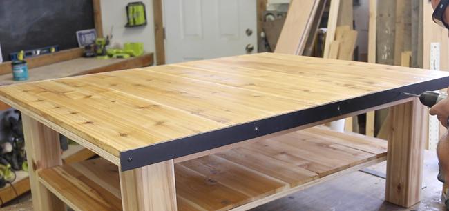 adding steel banding on coffee table