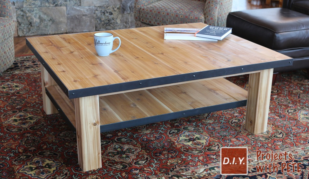 How To Make A Wood Coffee Table With Steel Accents - How To Stain And Seal Coffee Table