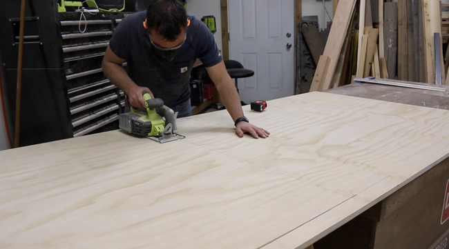 how to cut plywood by eye