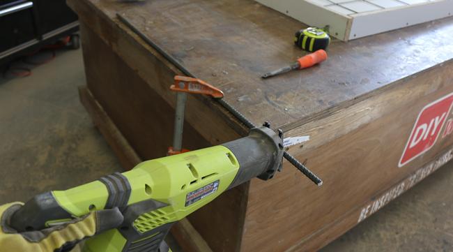 rebar for concrete counter