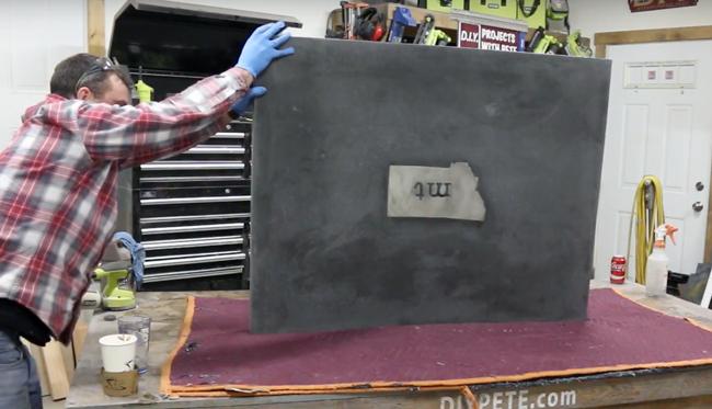 flip a concrete counter