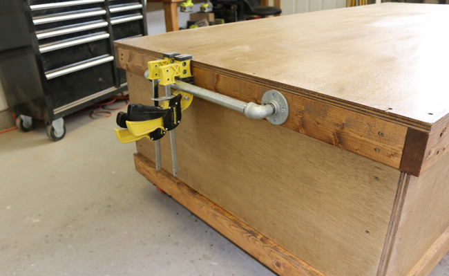workbench with handles