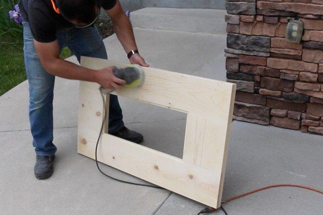 sanding a murphy bar