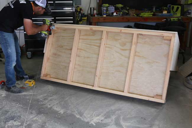 Attach Plywood Cart Wheels