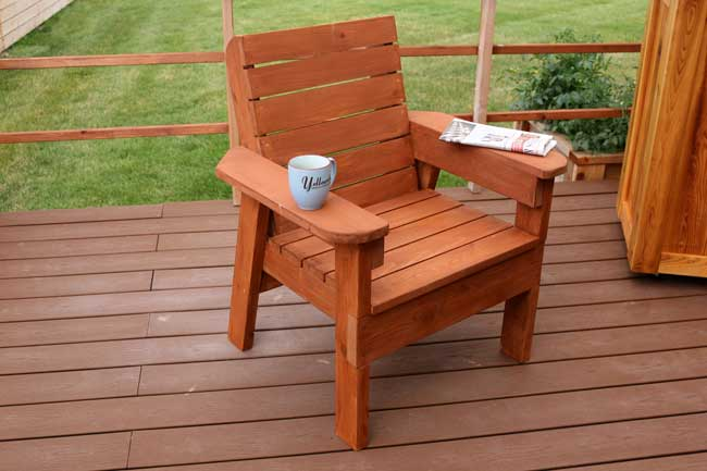 DIY patio chair plans