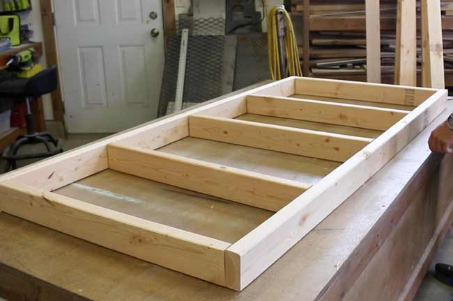 Lay out the Plywood Cart base Frame