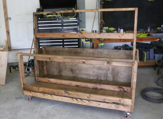 Stained Plywood Cart