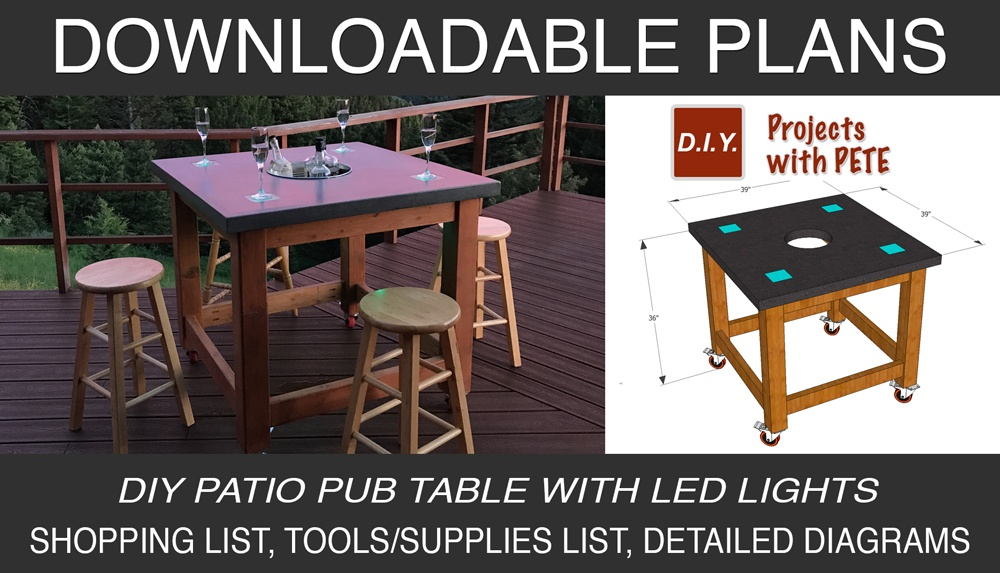 Cool How To Make A Concrete Pub Table Diy Projects With Pete Interior Design Ideas Pimpapslepicentreinfo