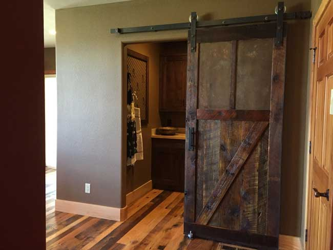 DIY reclaimed barn door