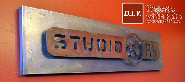 Metal Studio AV Sign