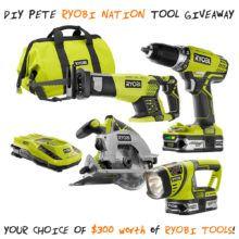 Ryobi Nation Tool Giveaway