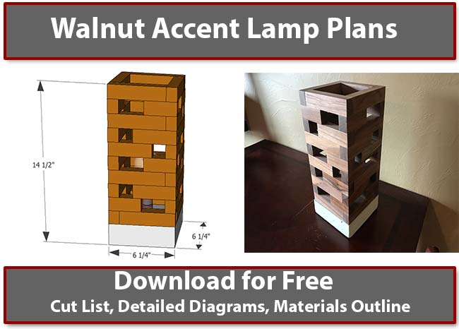 Walnut Accent Lamp Plans