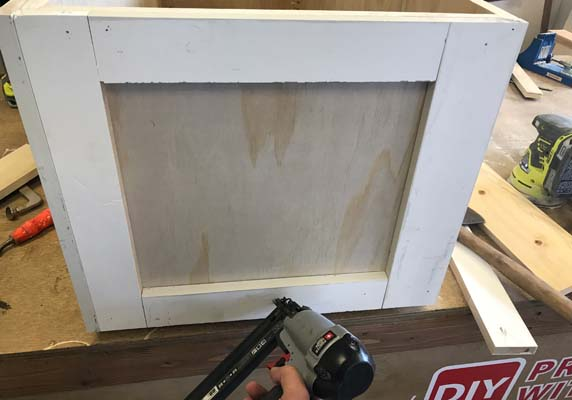 Dry Fitting trim for entryway Hutch