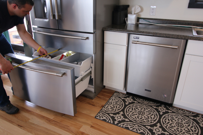 space between island and appliances