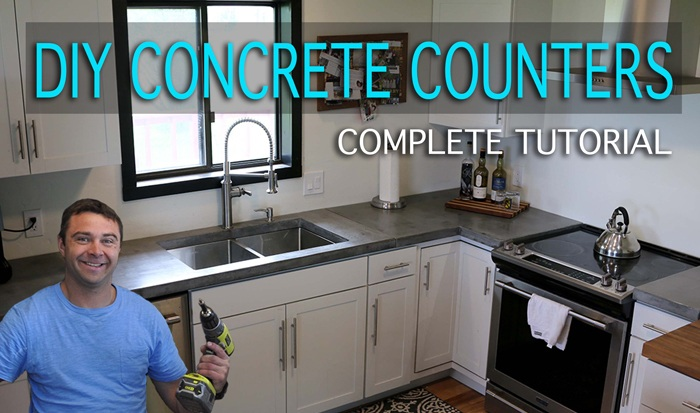 How To Make Concrete Countertops Video Tutorial Shopping List Photos