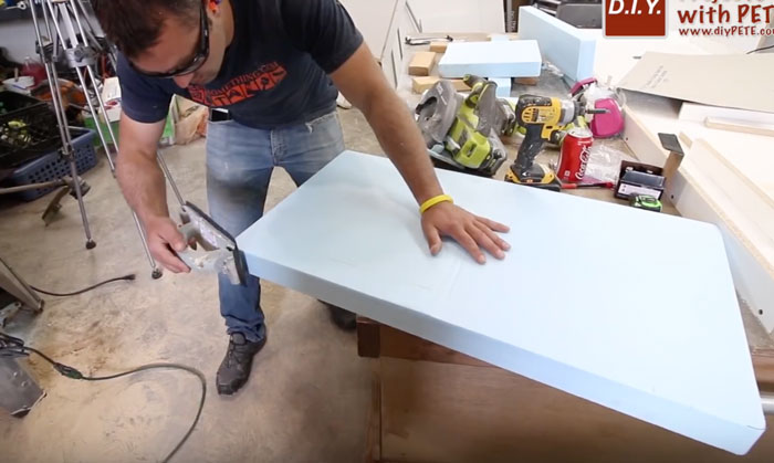 sanding high density foam for concrete counters