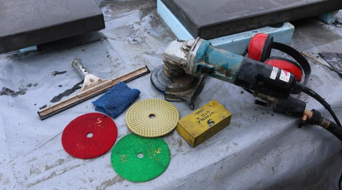 concrete polishing tools
