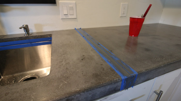 best way to do concrete counter seams