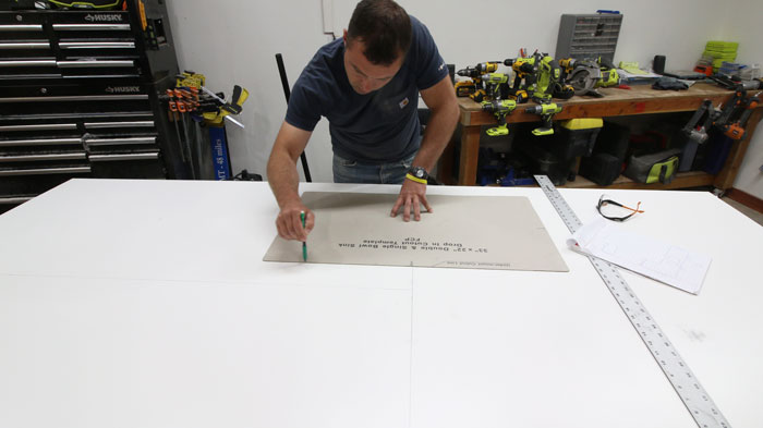 How to make concrete counters with undermount sink