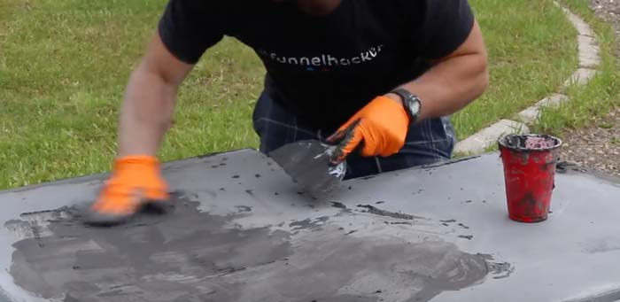 how to fill holes in concrete counters