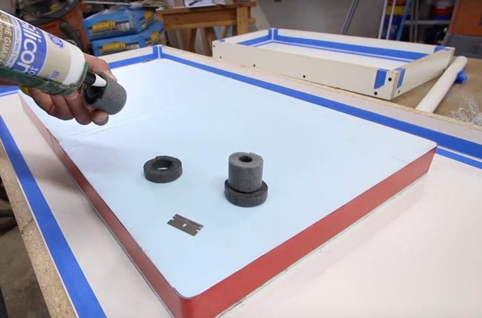 faucet knockouts for concrete counters