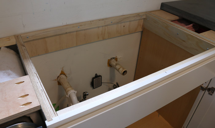 how to install undermount sink in concrete counters