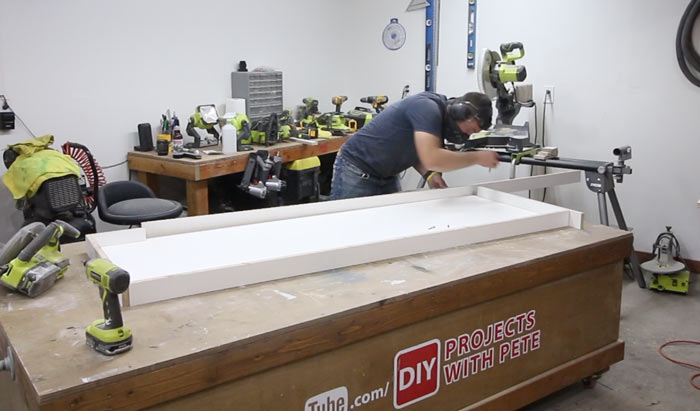 making a concrete counter mold