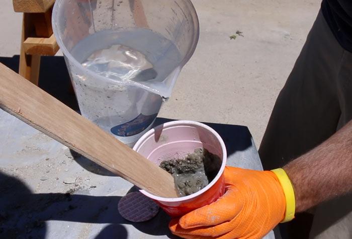 how to make concrete slurry