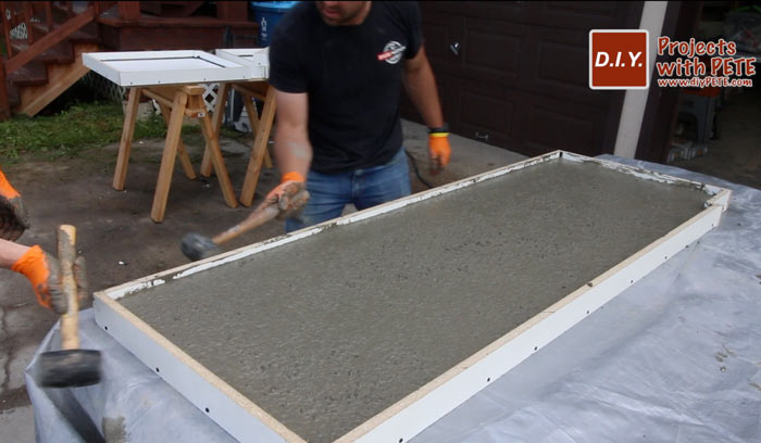 vibrating concrete counters