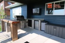 DIY Concrete counters for an outdoor kitchen