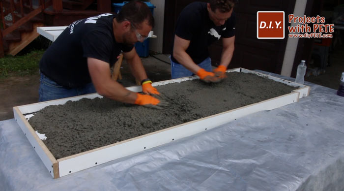 how to make concrete countertops for an outdoor kitchen