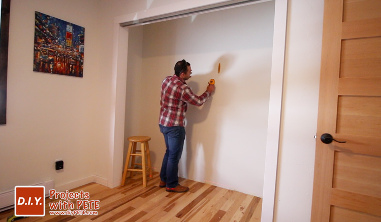 how to hang closet shelves